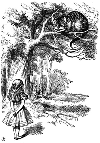 cover illustration from the original manuscript of Alice's Adventures in Wonderland, published by BLTC in 1864, drawn by Charles Dodgson (Lewis Carrol) himself.