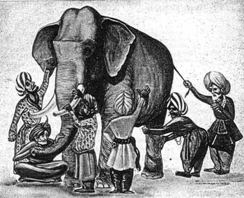 Illustration: the blind men and the elephant