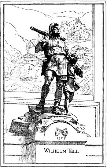 Illustration: statue of Wilhelm Tell