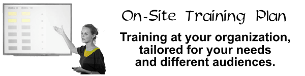 On site training plan