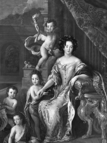 Madame de Montespan with her children, painting by Pierre Mignard​, ca. 1677.