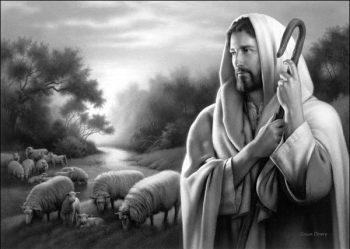 The Lord is My Shepherd by Simon Dewey, american Mormon artist.