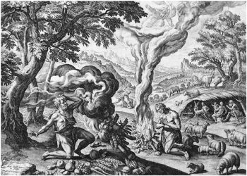 Cain and Abel make an offering