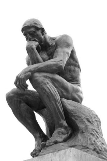 The thinking man by Rodin.