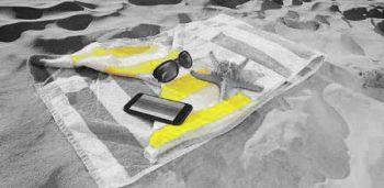 Illustration: beach towel and phone