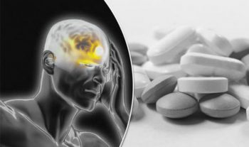 Illustration: headache and pills