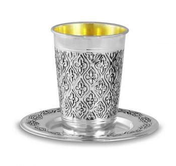 Illustration: Passover - silver kiddush cup