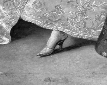 Shoe. Detail of painting above.