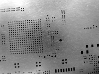 This is a typical solder paste stencil.